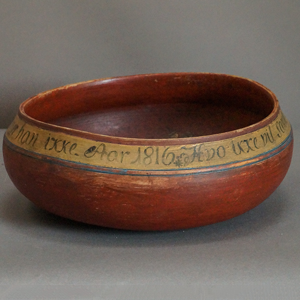 Danish Drinking Bowl Dated 1816