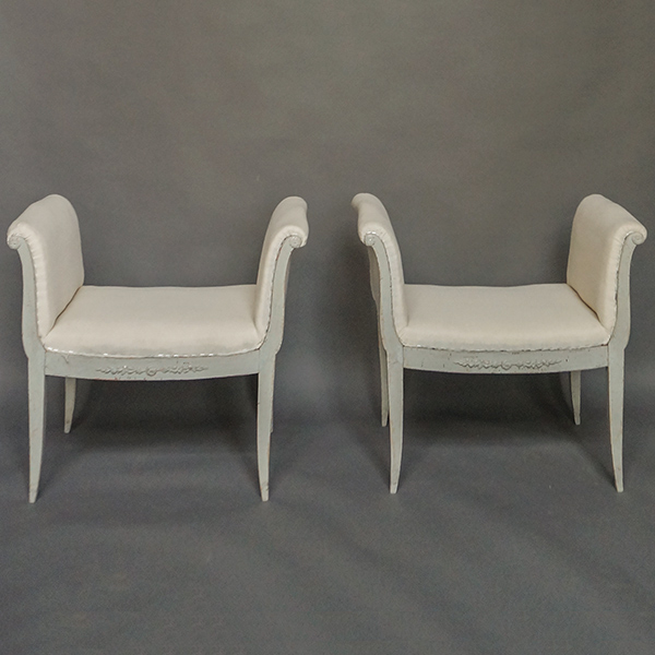 Pair of High Sided Stools