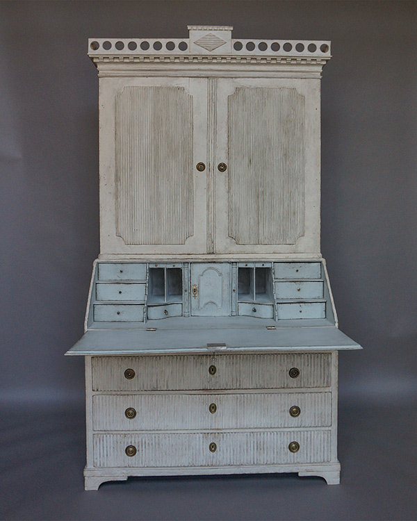 Gustavian Two-Part Secretary