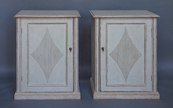 Pair of Gustavian Style Low Cabinets