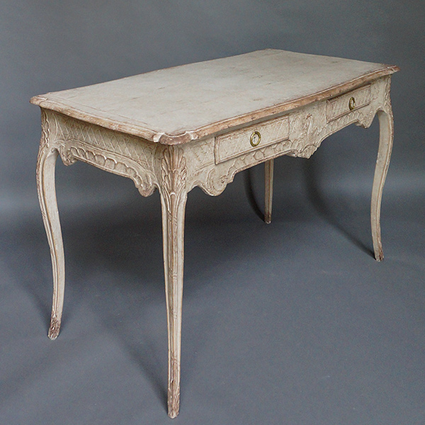 Rococo Writing Table with Carved Detail