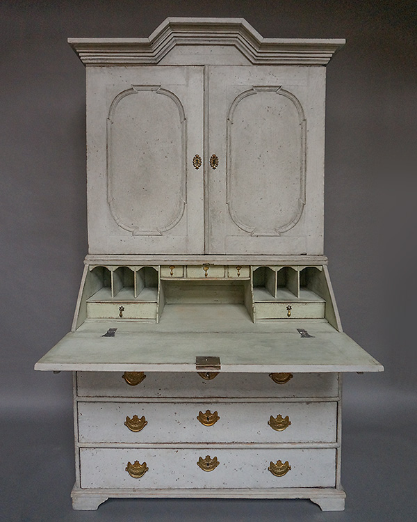 Early Two-Part Secretary with Original Hardware