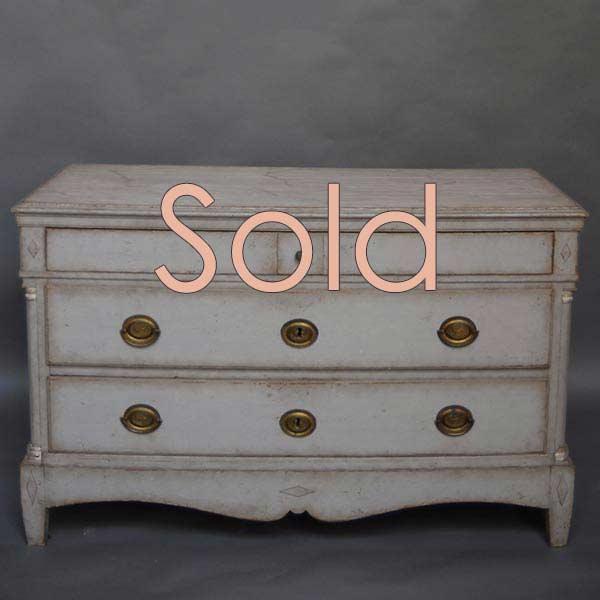 Antique Scandinavian three-drawer chest