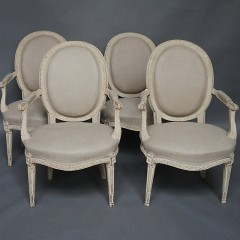 Set of Four Swedish Side Chairs