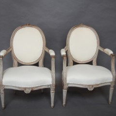 Pair of Gustavian Style Armchairs