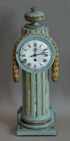 Swedish Louis XVI Giltwood Clock
