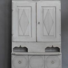 Gustavian Clock Cabinet