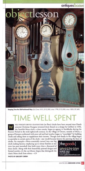 Time Well Spent – Mora Clocks in Berkshire Living