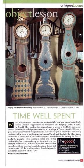 Time Well Spent – Mora Clocks in Berkshire Living