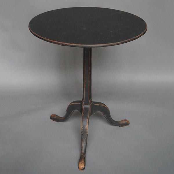 Black tilt-top table, Sweden circa 1840
