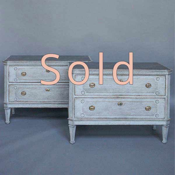Pair of Swedish chests of drawers, circa 1870, in the Gustavian style