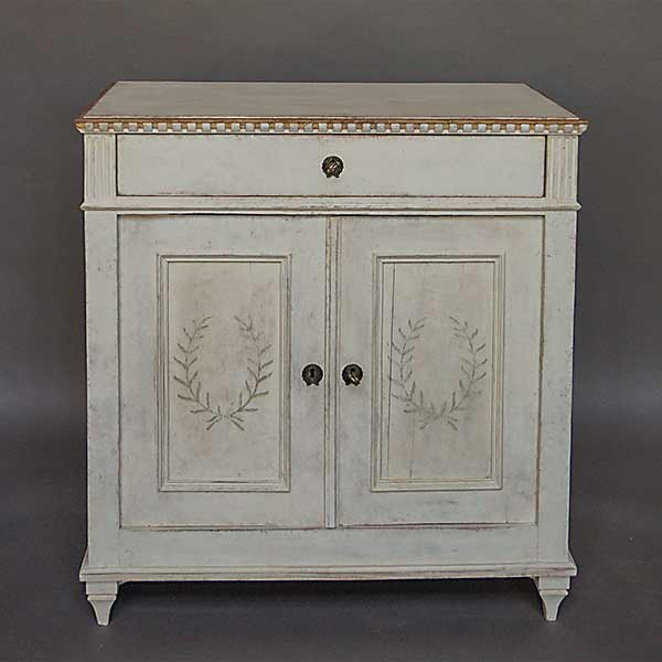 Swedish sideboard circa 1900 with painted decoration