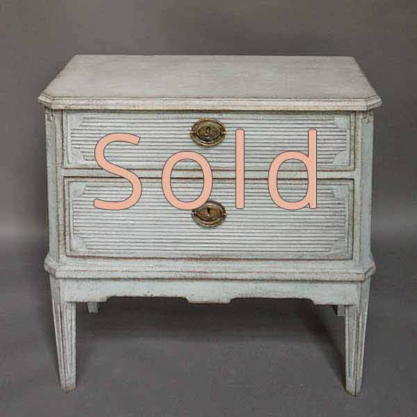Neoclassical Style Two Drawer Commode