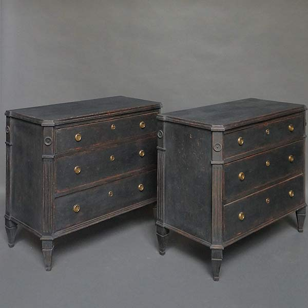 Pair of antique Gustavian style commodes.