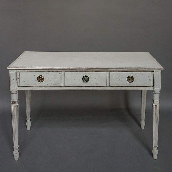 Antique Swedish writing desk with wide drawer