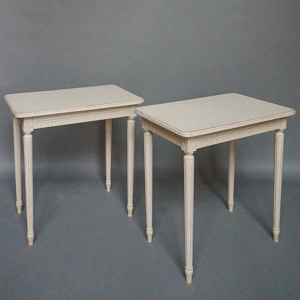 Pair of antique Gustavian style tables