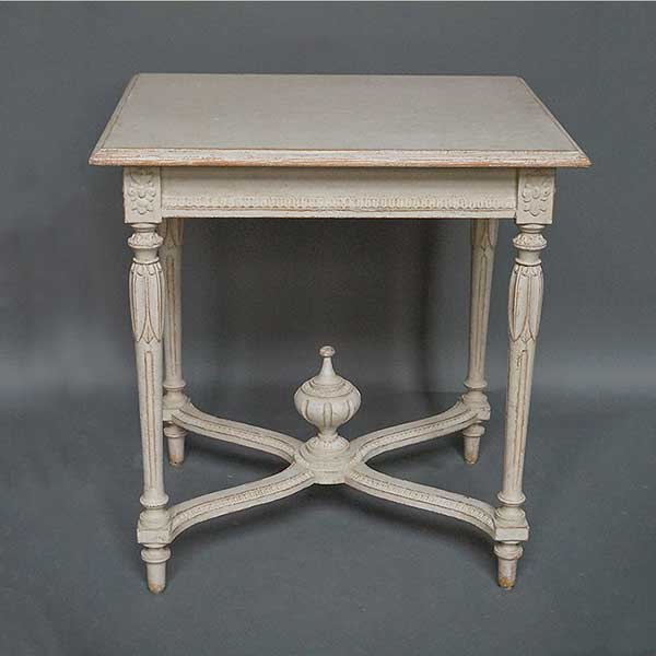 Antique neoclassical table with urn finial