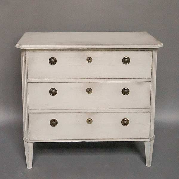 Antique Swedish three-drawer chest
