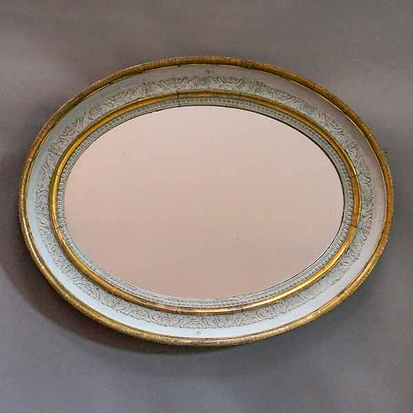 Antique oval Swedish empire mirror