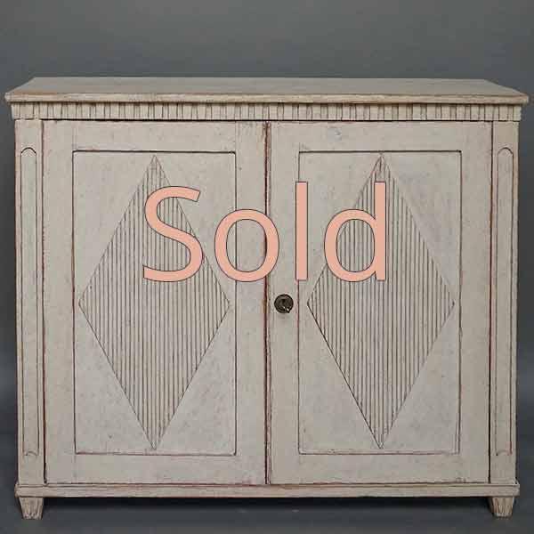 Period Two Door Gustavian Sideboard