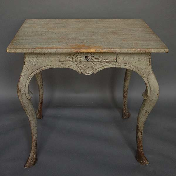 Very early Swedish rococo side table