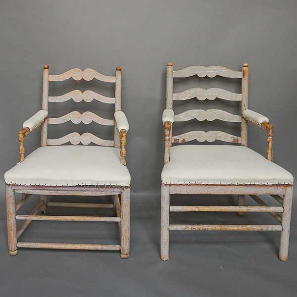 Pair of period Swedish Gripsholm armchairs