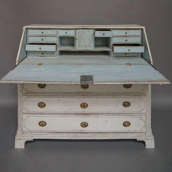 Antique Swedish empire writing desk