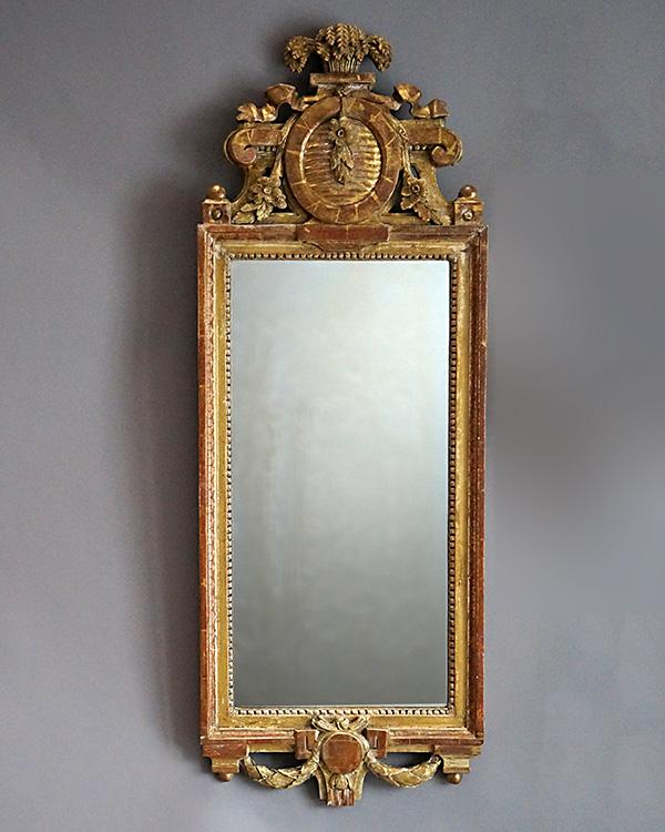 Period Gustavian Mirror by Johan Åkerblad