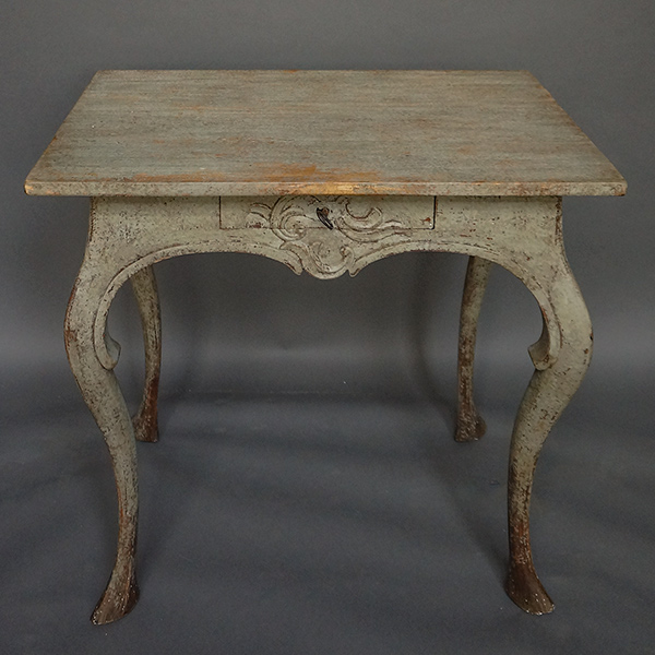 Swedish Rococo Table in Original Paint