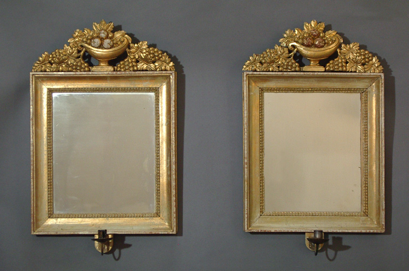 Pair of Swedish Gilded Mirrors