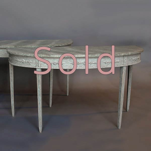 Pair of Period Gustavain Console Tables