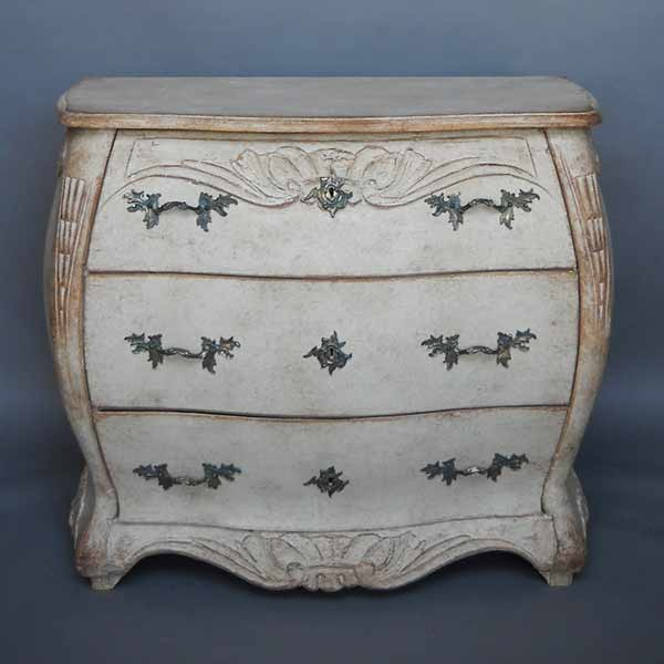 Antique Swedish bombe chest