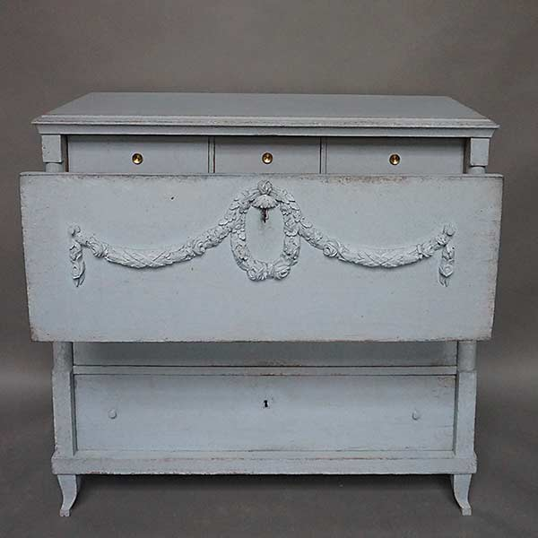 Swedish Chest of Drawers with Classical Swags