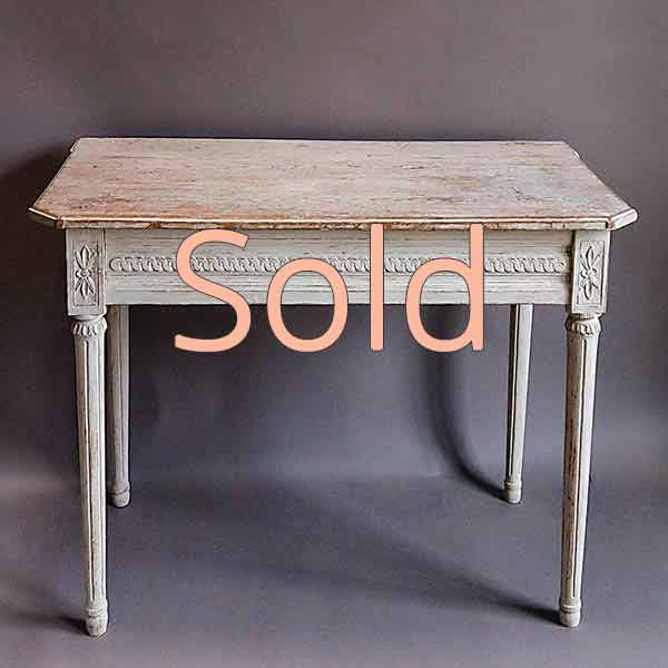 Period Gustavian Table in Original Paint