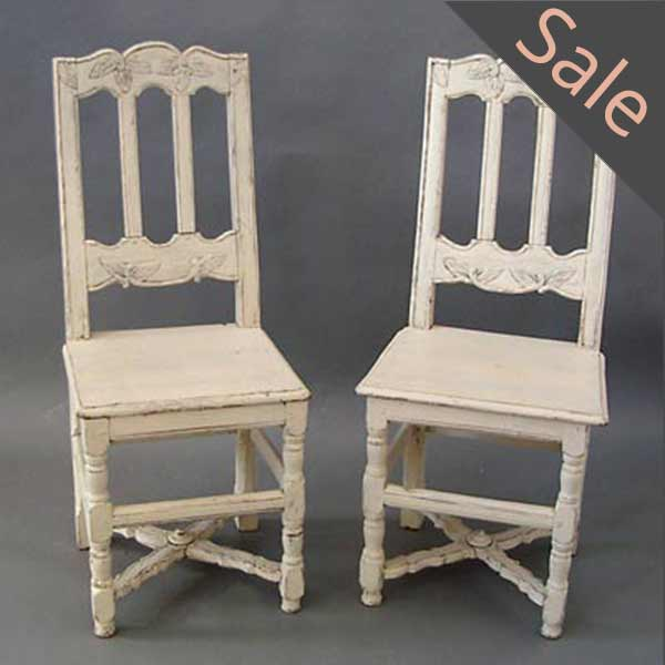 Pair of Early Danish Side Chairs