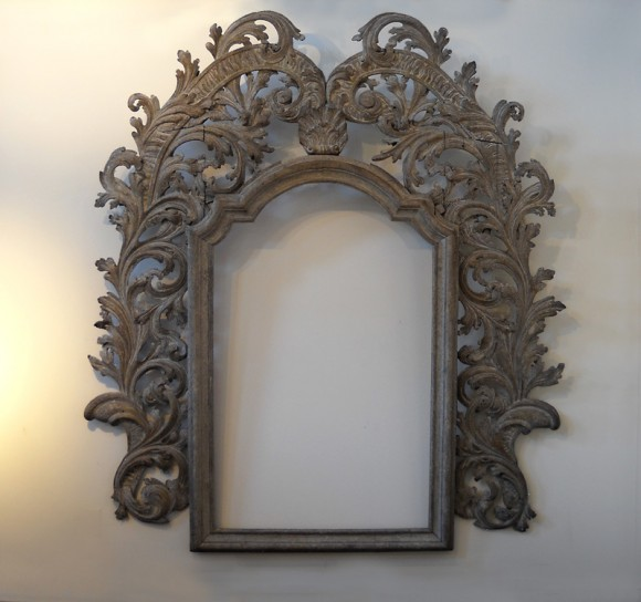 Monumental antique Italian carved frame