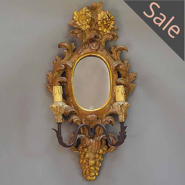 Mirrored Two-Light Sconce