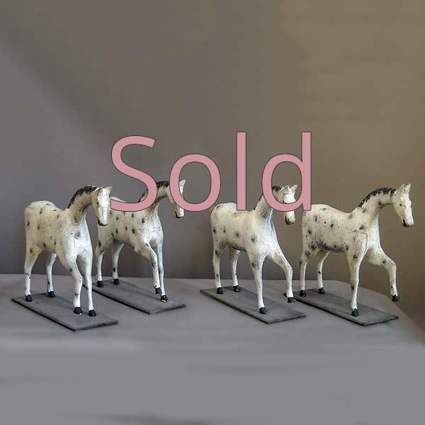 Set of Four Toy Horses