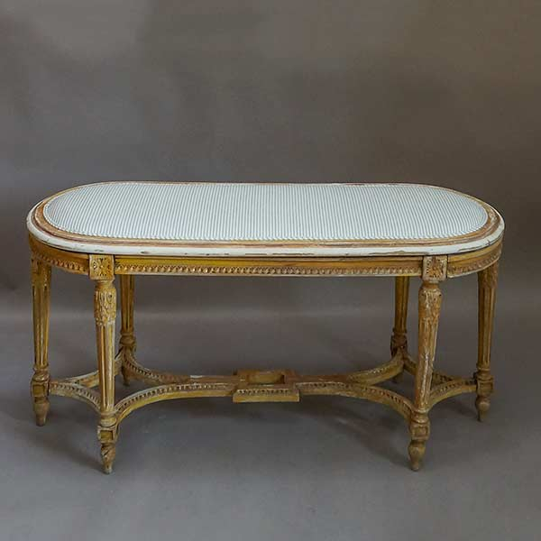 Antique Italian Bench in the Directoire Style