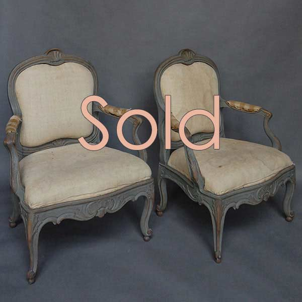 Pair of Swedish Armchairs from the Biby Estate in Södermanland