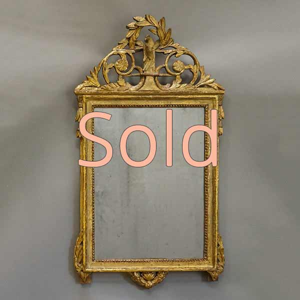 Gustavian mirror with Chinoiserie influences