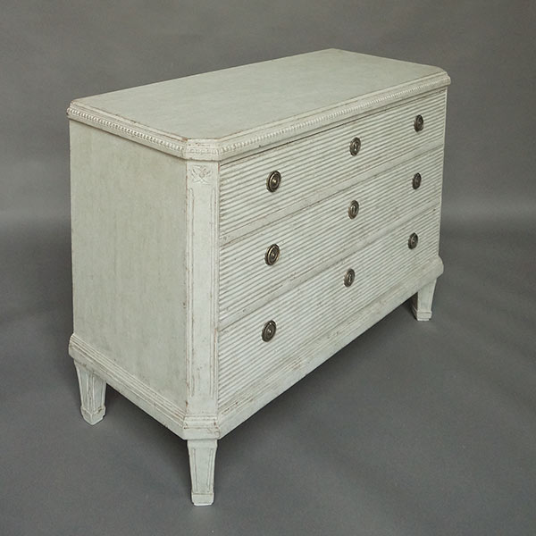 Chest of drawers in the Gustavian style, Sweden circa 1840.
