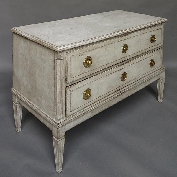Swedish neoclassical two-drawer chest, circa 1780.