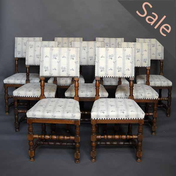 Set of Four Danish Renaissance Style Dining Chairs