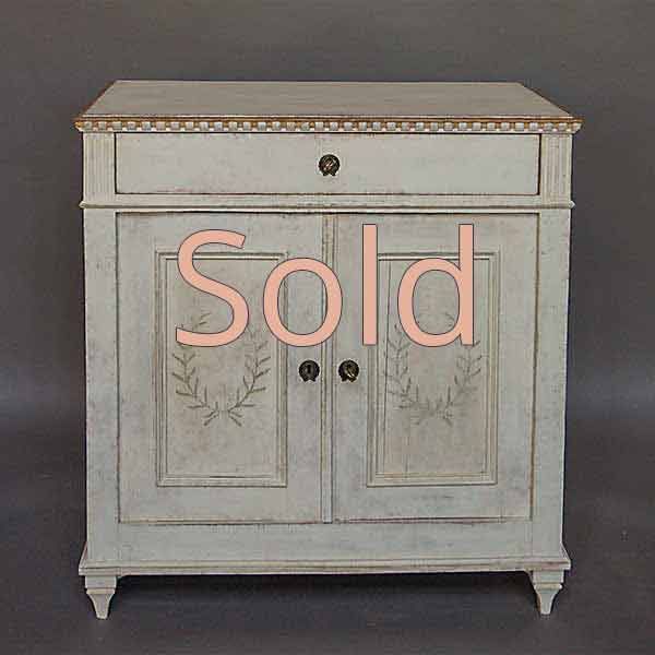 Swedish Sideboard with Painted Decoration