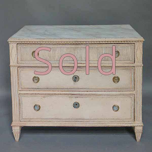 Empire Chest of Drawers with Marbled Top