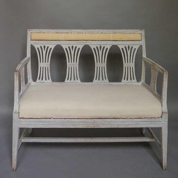 Swedish antique neoclassical sofa bench, circa 1860