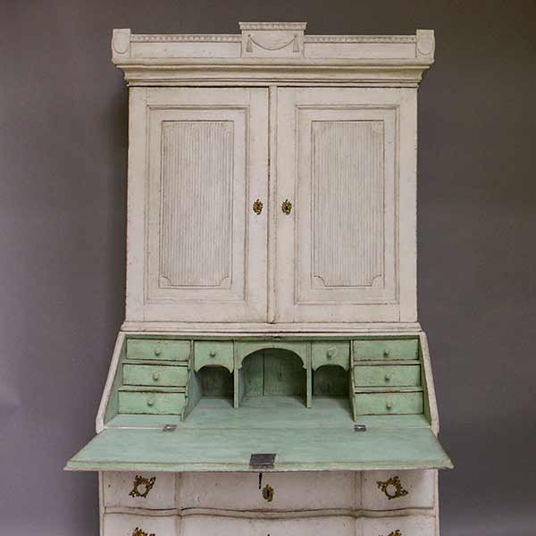 Swedish rococo secretary with Gustavian elements
