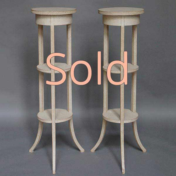 Pair of Gustavian Style Tall Stands