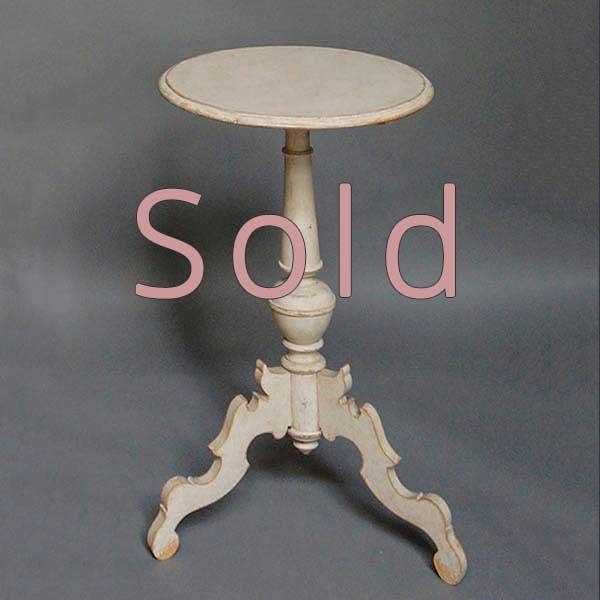 Antique Swedish Pedestal Table